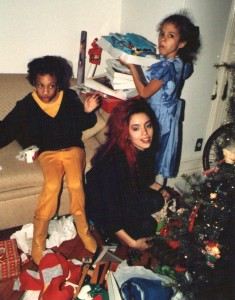 Bianca, Deana y yo en la casa de los Johnson's, New York ,'86 u '87