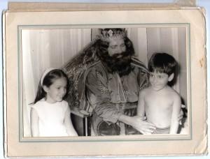 Con mi hermano Leandro y un Rey Mago( todos no se pudo, se ve)