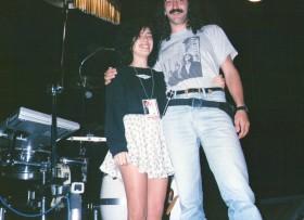 Juan Maggi ( nuestro asistente) y yo de gira por México con Soda Stereo,1989