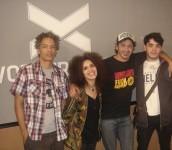 con Dany Jimenez en el acústico que hicimos en Vorterix