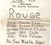Primer show de Rouge