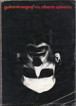 tapa del libro Guitarra Negra de Luis Spinetta( primera edición)