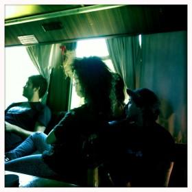 micro,Mariano, Pau, Leone y yo, los Stones y todos los demás + Marchu que saca la foto y todos los demás mirando
