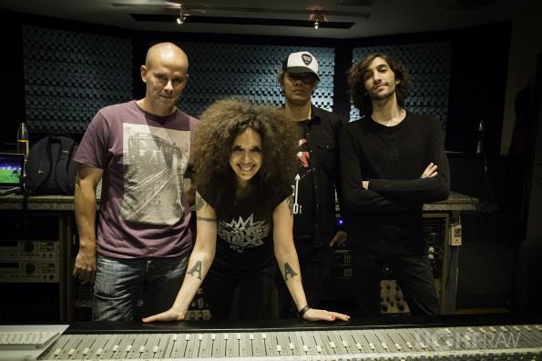 Facu (Ingeniero de sonido) Lonnie, Tomás y yo.