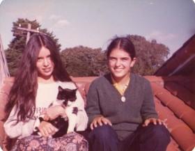 Mi prima Gabi, la Micha y yo.